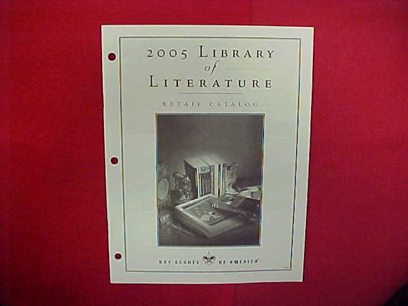 2005 LIBRARY OF LITERATURE/AUDIOVISUAL PRODUCTS RETAIL CATALOG,8.5 X 11,23 PAGES