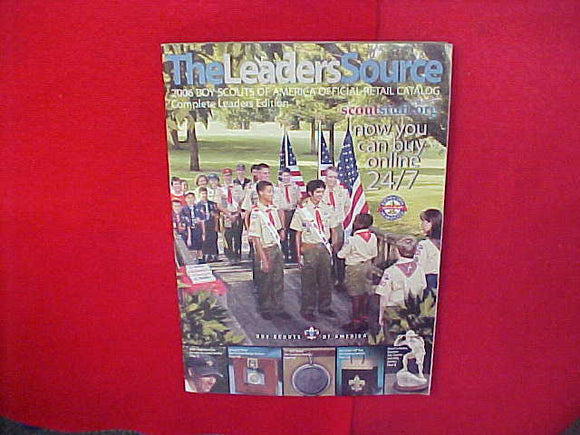 2006 BOY SCOUTS OF AMERICA OFFICIAL RETAIL CATALOG,COMPLETE LEADERS EDITION,8.5 X 11,134 PAGES
