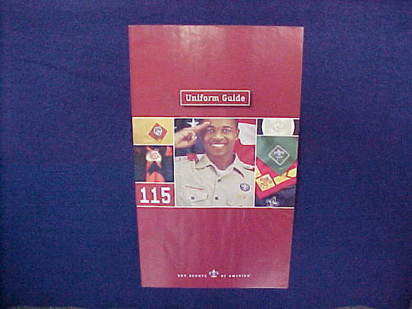 2007 BSA UNIFORM GUIDE,6 X 10.5,11 PAGES