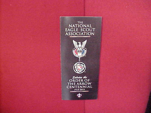 2015 NATIONAL EAGLE SCOUT ASSOCIATION SALUTES THE ORDER OF THE ARROW CENTENNIAL BROCHURE,4