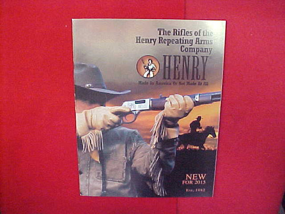2015 HENRY RIFLE CATALOG FEATURING BOY SCOUT RIFLES,8.5