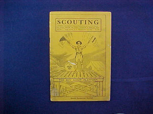 "DECEMBER 1916 SCOUTING EQUIPMENT NUMBER CATALOG, 5.5"" X 8"", 64 PAGES, VERY GOOD CONDITION"