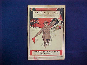 "DECEMBER 1917 SCOUTING EQUIPMENT NUMBER CATALOG, 5.5"" X 8"", 128 PAGES, GOOD CONDITION"