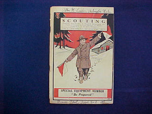 "DECEMBER 1917 SCOUTING EQUIPMENT NUMBER CATALOG, 5.5"" X 8"", 128 PAGES, VERY GOOD CONDITION"