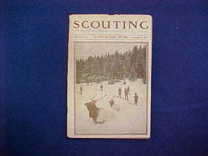 "NOVEMBER 1919 SCOUTING EQUIPMENT NUMBER CATALOG, 5.5"" X 8"", 128 PAGES, VERY GOOD CONDITION"