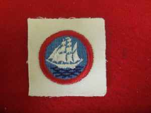 Sea Scout Long Cruise on White Twill Cloth Back 1930-Present