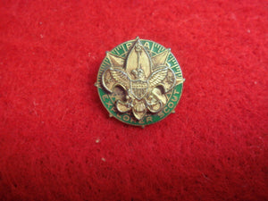 "Explorer Scout Universal Lapel Pin 1935-49 15MM Diameter Markered ""Sterling"" on Back"