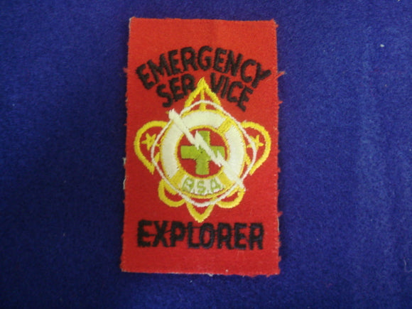 Emergency Service 1949-57 Explorer Patch, Mint