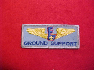 AVIATION EXPLORING RECTANGULAR BADGE ON LIGHT BLUE TWILL-GROUND SUPPORT.1986-91