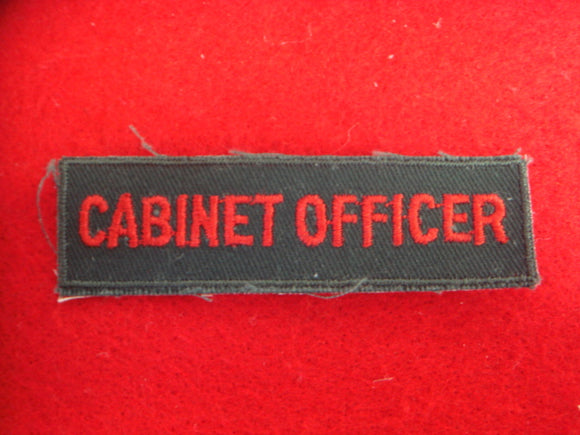 Cabinet Officer 1958-69 Cloth Back