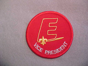 "EXPLORER VICE PRESIDENT 76MM,EXPLORER ""E"" ON LINE,GRAY LETTERS.1990-98"