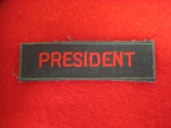 President 1958-79 Cloth Back