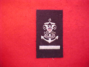 SEA EXPLORER APPRENTICE RANK BADGE,NAVY BLUE WOOL,CLOTH BACK WITH GAUZE