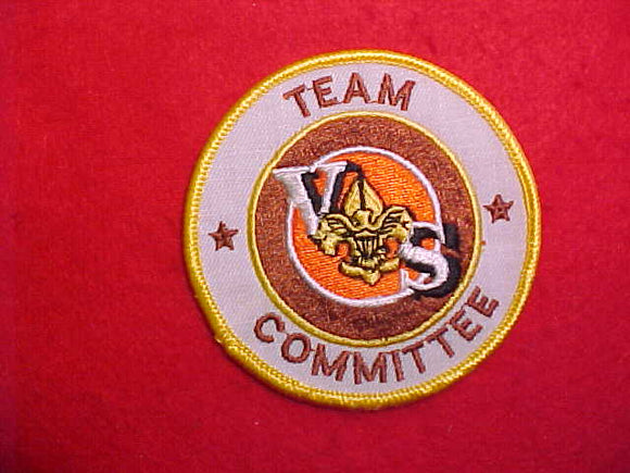 VARSITY SCOUT TEAM COMMITTEE,WHITE TWILL,1984-89