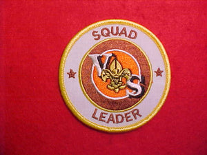 VARSITY SCOUT SQUAD LEADER,WHITE TWILL,1984-89