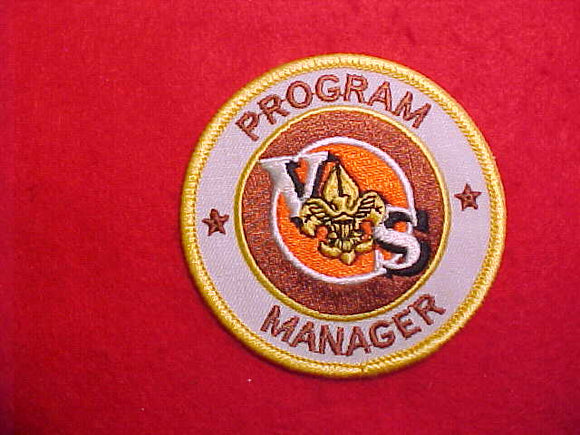 VARSITY SCOUT PROGRAM MANAGER,WHITE TWILL,1984-89