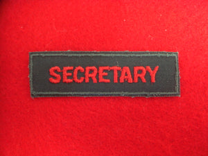 Secretary 1958-79 Plastic Back