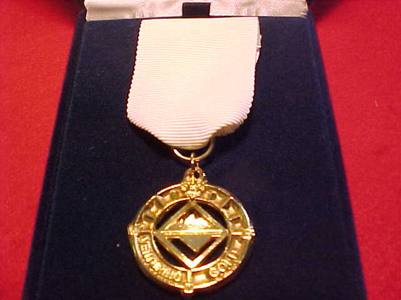 Venturing BSA Gold Award Medal, Pendant is all gold color, issued 1998-early 2000's, rare