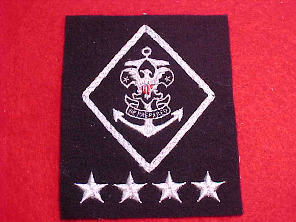 SEA EXPLORING NATIONAL CHAIRMAN PATCH, NAVY BLUE FELT, NO BORDER, NO BACKING