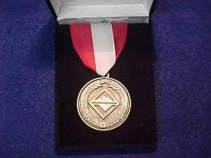 VENTURING MEDAL, LEADERSHIP, RED/WHITE RIBBON FOR OUTSTANDING NATIONAL LEVEL SERVICE