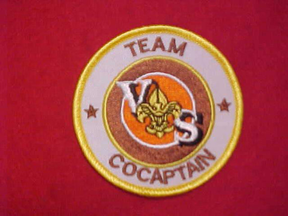 VARSITY SCOUT PATCH, TEAM COCAPTAIN (NO HYPHEN, ERROR)