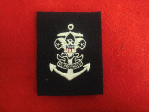 Sea Scout Quartermaster 1953-Present (Sleeve Patch) Cloth Back