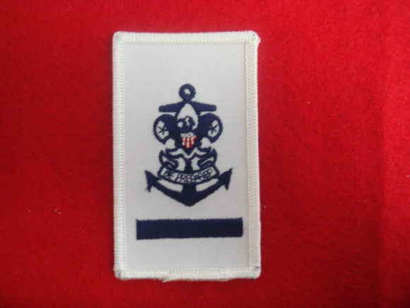 Sea Scout Apprentice on White Twill with Rolled Border