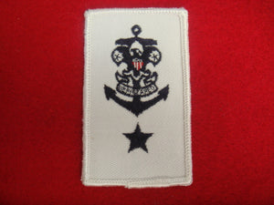 Sea Scout Mate White Twill R/E 1988-Present Cloth Back