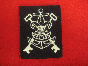 "Sea Scout Purser 1966-Present Navy Wool Rare, w/o ""Be Prepared"" on First Class Scroll"