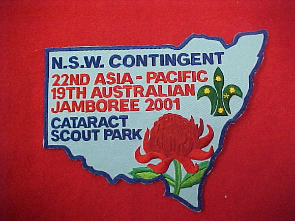 2001 Jamboree, 22nd Asia Pacific, 19th Australian. Cataract Scout Park, N.S.W. Contigent 5.5 x 7.25