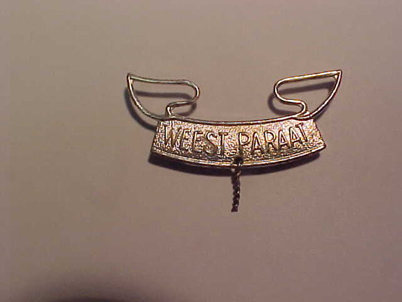 Netherlands Second Class hat pin, Weest Paraat, 42mm wide