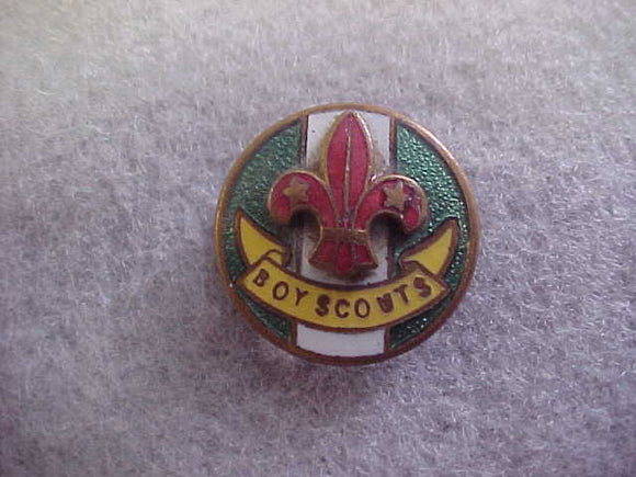 British Boy Scout Group Scoutmaster pin,post-WWII,19 mm diameter