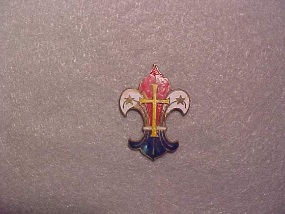 Luxemburg hat pin, cloisonne, 29x39mm, no pin on back, damaged, old