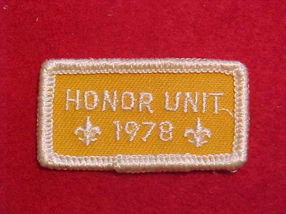 1978 HONOR UNIT PATCH
