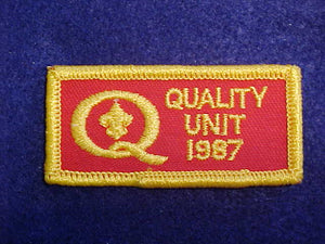 1987 QUALITY UNIT PATCH