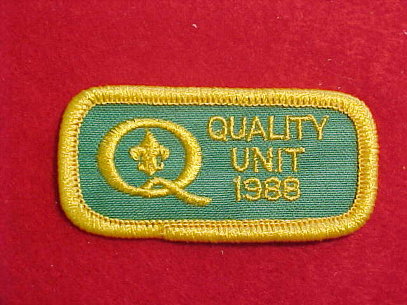 1988 QUALITY UNIT PATCH