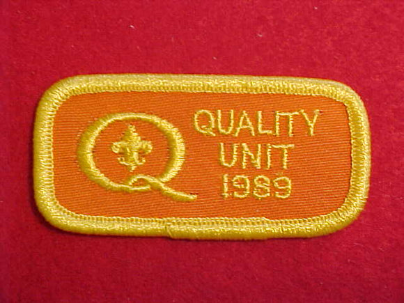 1989 QUALITY UNIT PATCH