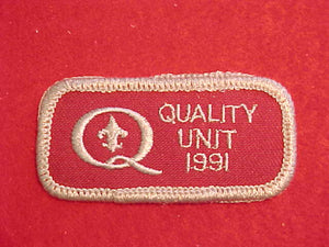 1991 QUALITY UNIT PATCH