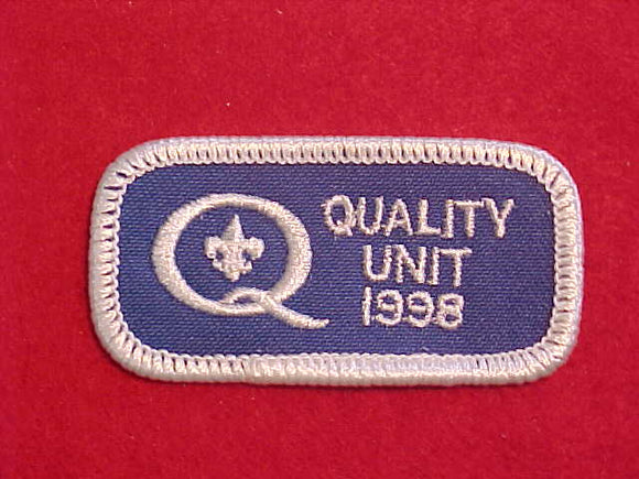 1998 QUALITY UNIT PATCH