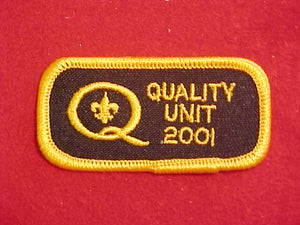 2001 QUALITY UNIT PATCH