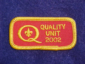 2002 QUALITY UNIT PATCH