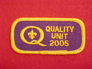 2005 QUALITY UNIT PATCH