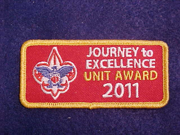 2011 JOURNEY TO EXCELLENCE GOLD UNIT AWARD PATCH