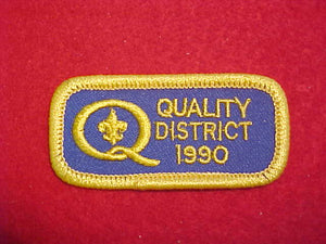 1990 QUALITY DISTRICT PATCH