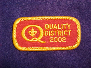 2002 QUALITY DISTRICT PATCH