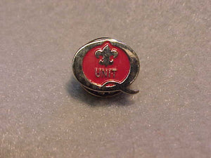 1996 QUALITY UNIT PIN, RED/SILVER