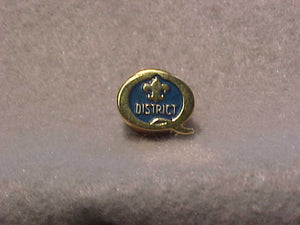 1990 QUALITY DISTRICT PIN, LT. BLUE/GOLD