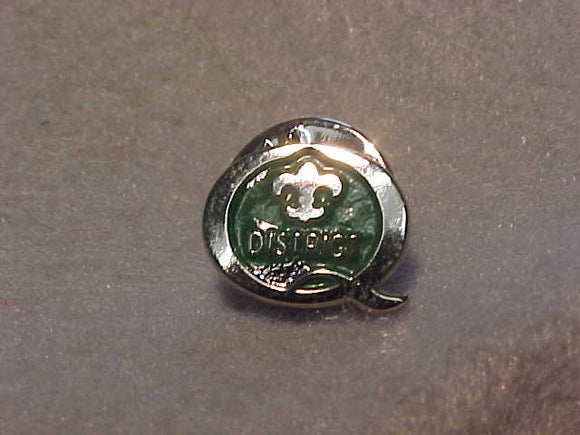 1997 QUALITY DISTRICT PIN, GREEN/SILVER