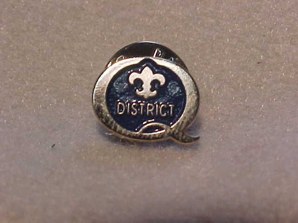 1998 QUALITY DISTRICT PIN, BLUE/SILVER