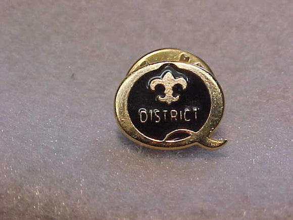 2001 QUALITY DISTRICT PIN, BLACK/GOLD